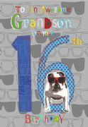 Grandson 16th Birthday Card